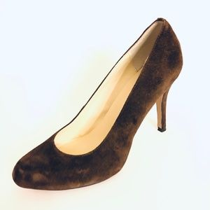 MAX STUDIO 6.5 Suede Pumps Marais Chocolate Brown